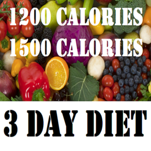 Health & Fitness - 3 Day Diet and 1200 & 1500 Calories Diets - Awesomeappscenter LLC